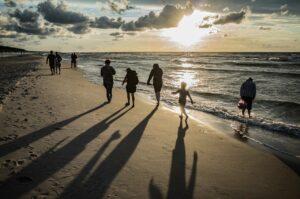 Familienurlaub am Strand