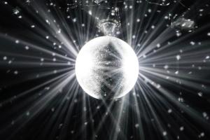 Diffuse Lichtreflektion einer Discokugel